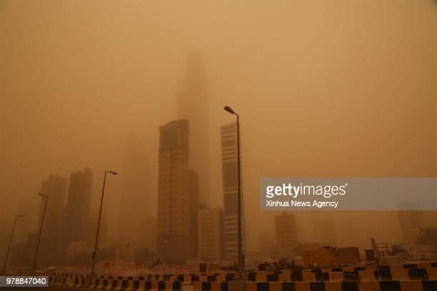CITY, June 17, 2018 -- A heavy sandstorm engulfs Kuwait City