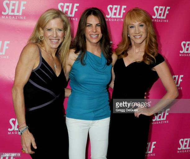 June 18 2009 West Hollywood Ca Lucy Danziger Jillian Michaels and Kathy Griffin Self Magazine Celebrates the July 2009 LA Issue Held at the Sunset...