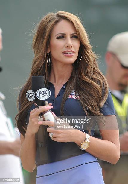 June 18 2015 Fox Sports commentator Holly Sonders during first round play at the 115th US Open at Chambers Bay University Place WA
