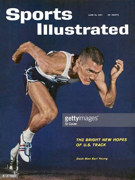 June 19 1961 Sports Illustrated Cover Track Field Portrait of Abilene Christian sprinter Earl Young Abilene TX 5/18/1961