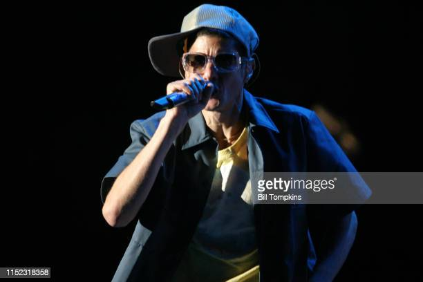 June 19, 2004]: MANDATORY CREDIT Bill Tompkins/Getty Images Mike Diamond, aka Mike D of The Beastie Boys performs at The Jones Beach Amphitheatre on...