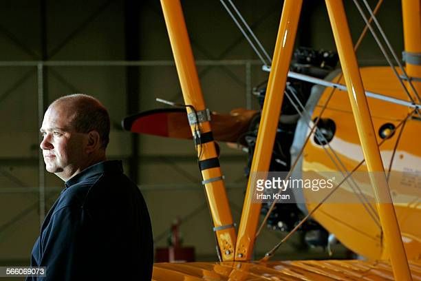 MURRIETA CA – June 19 2008 ––––– Simon Brown vice president and general manager of Provenance Fighter Sales stands next to his personal Boeing N2S–5...
