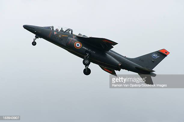 June 19, 2010 - A Dassault/Dornier Alpha Jet of the French Air Force in flight over Volkel, the Netherlands.
