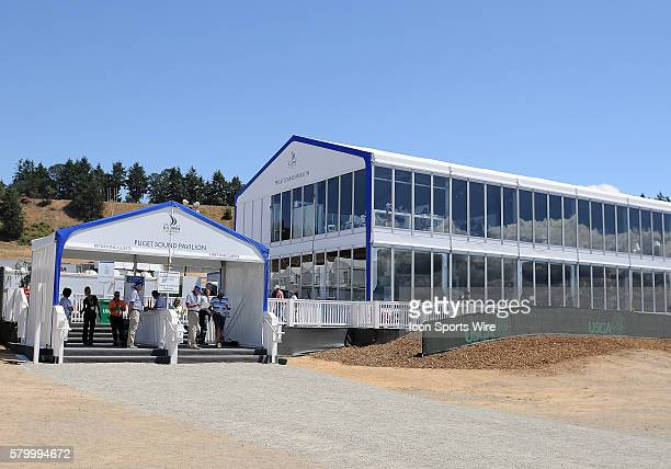 June 19 2015 A general view of the Puget Sound Pavillion during second round play at the 115th US Open at Chambers Bay University Place WA