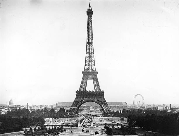 The Eiffel Tower at the time of Paris Exhibition 1900...