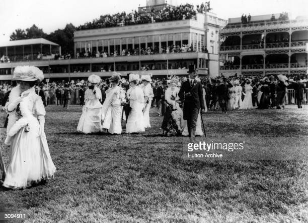 Society women in their finery at Ascot races.