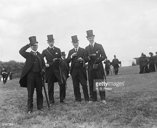 Guy Neville J W Larnach and Lord Henry Neville at the Epsom races