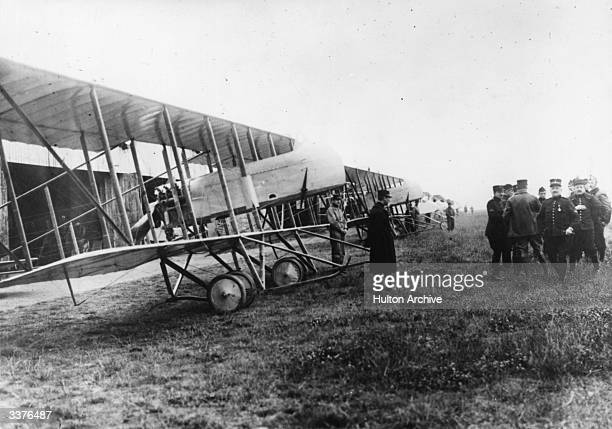 An inspection at the Belgian flying school at Etampes.