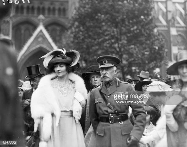 Lady Ramsey and the Duke of Connaught at the wedding of Lady Diana Manners