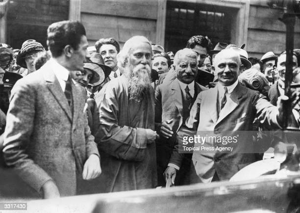 Indian poet and philosopher Rabindranath Tagore in London
