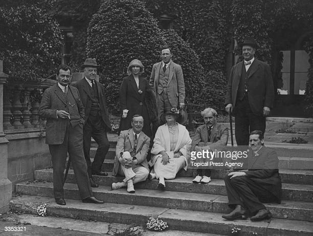 Members of the Labour Party at Easton Lodge From left to right standing Otto Wells Canon Adderley Mrs Shinwell Mr Shinwell Mrs Shinwell and Will...