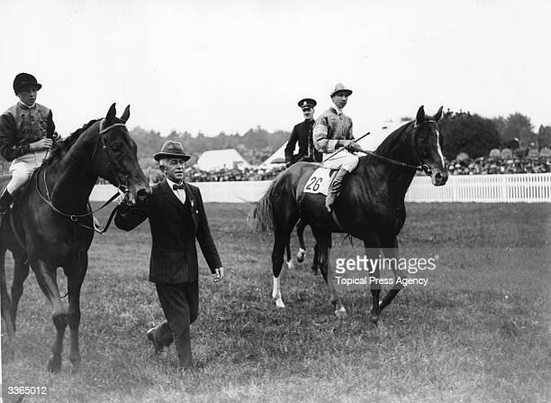 Weathervane is led in after winning the Royal Hunt Cup at Ascot with jockey Ingham