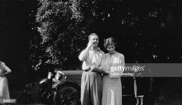 English novelist Rosamund Lehmann with her husband Wogan Philips later Lord Milford and Dora Carrington at Ipsden House Oxford