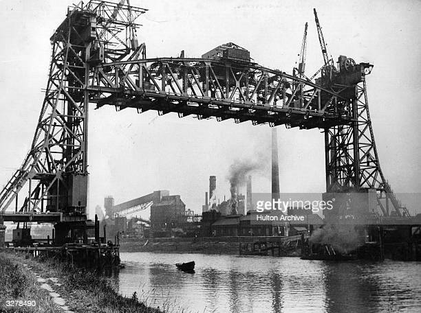 The Tees Bridge under construction at Middlesbrough Cleveland