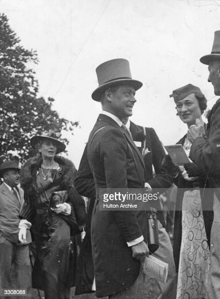 The Duke of Windsor as Prince of Wales with Mrs Wallis Warfield Simpson later the Duchess of Windsor at Ascot