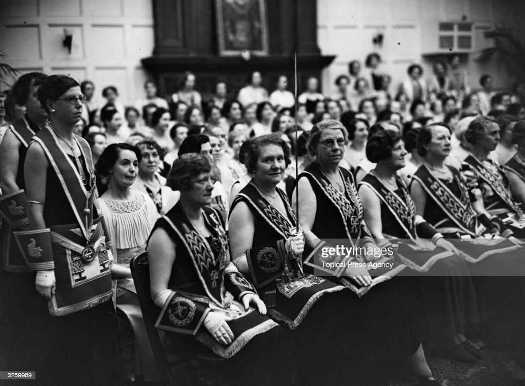Female Freemasons at the Masonic Temple at Caxton Hall Westminster.