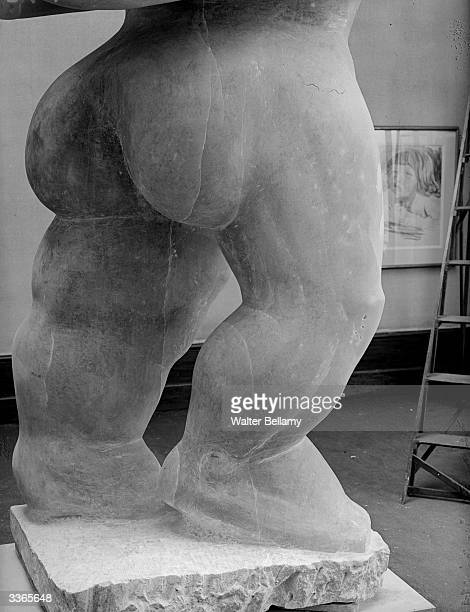 A detail from the sculpture 'Adam' by Americanborn British sculptor Jacob Epstein