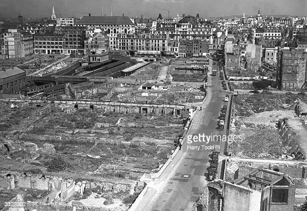 The damage from the Blitz is still evident in London
