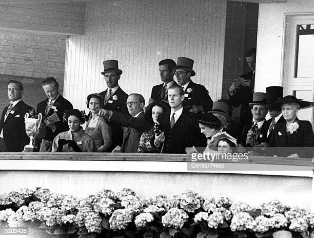The Royal Party in their box at Ascot