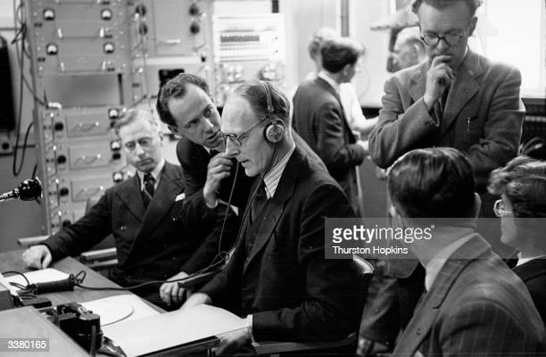 From his base in London's Broadcasting House S J de Lotbiniere head of television's outside broadcasting section coordinates all the movements of the...