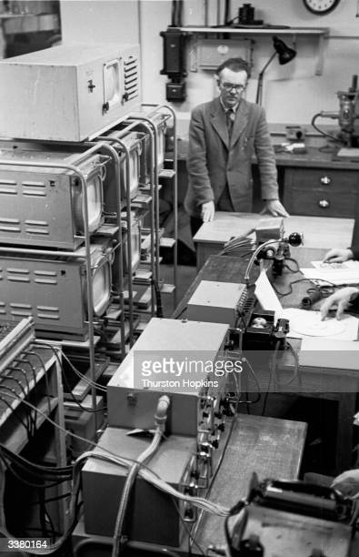 The base in London's Broadcasting House from which S J de Lotbiniere head of television's outside broadcasting section coordinates all the movements...