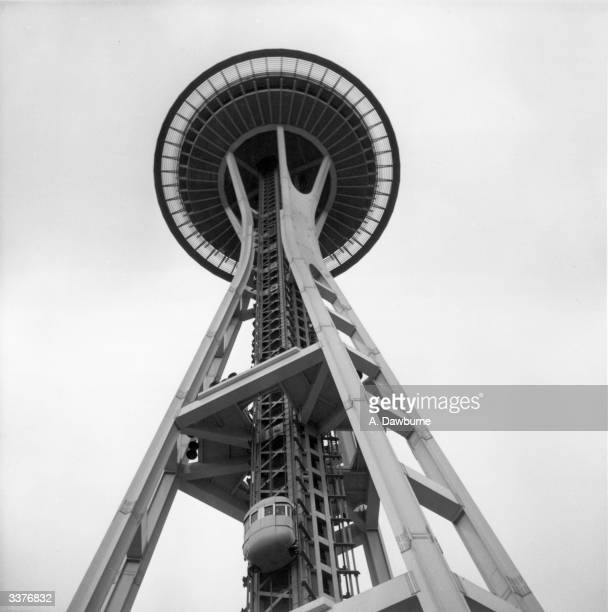 Built for the Century 21 Exposition held in Seattle in 1962 the Space Needle stands 185 metres tall and the summit with a revolving restaurant can be...