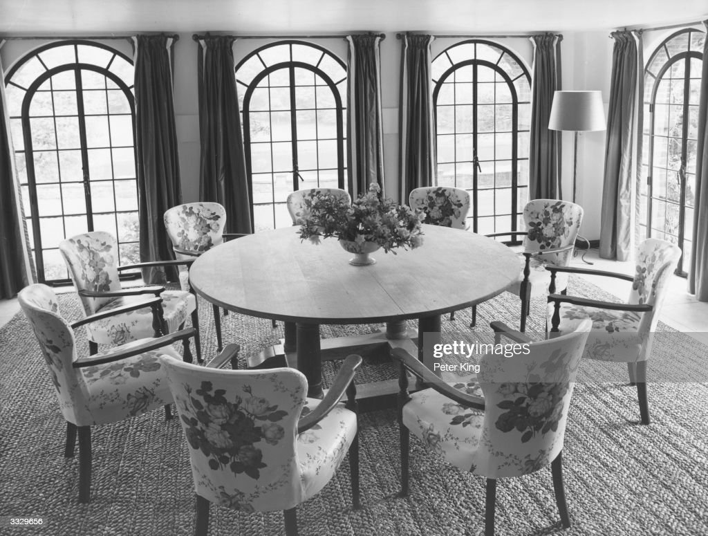 The dining room at Chartwell, home of the former British ...