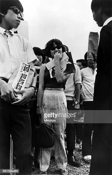 June 1966Japanese fans outside Budokan Tokyo waiting to see The Beatles perform June 1966