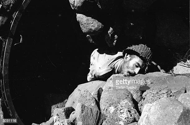 A Syrian casualty of the Israeli advance into Syria during the Six Day War