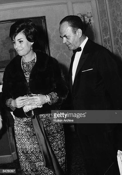 Georgios Papadopoulos Greek soldier and politician who became President following the abolition of the monarchy in 1973 Seen here with his wife In...