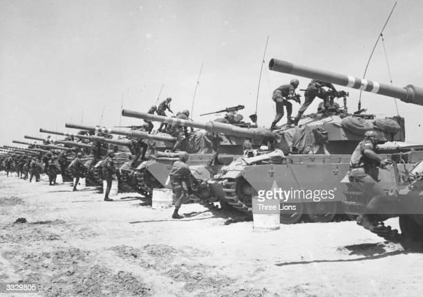 Israeli Centurion tank corps prepare for battle during the SixDay War