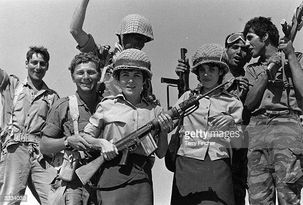 Israeli troops celebrating their victory in the SixDay War against Egypt