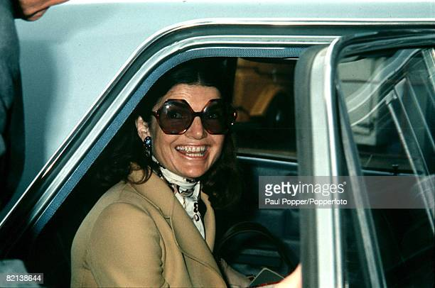 June 1971, A picture of Jacqueline Onassis, the former First Lady when she was married to President of the USA John F Kennedy, and wife of Greek...