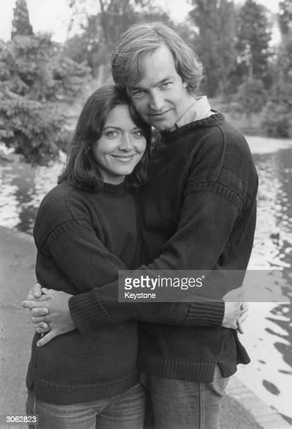 British journalists and television news presenters Anna Ford and Jon Snow
