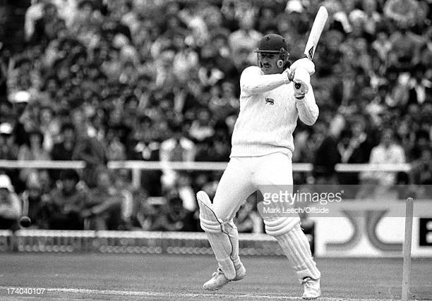 16 June 1979 Cricket world cup England v Pakistan Ian Botham mistimes a pull shot while batting for England