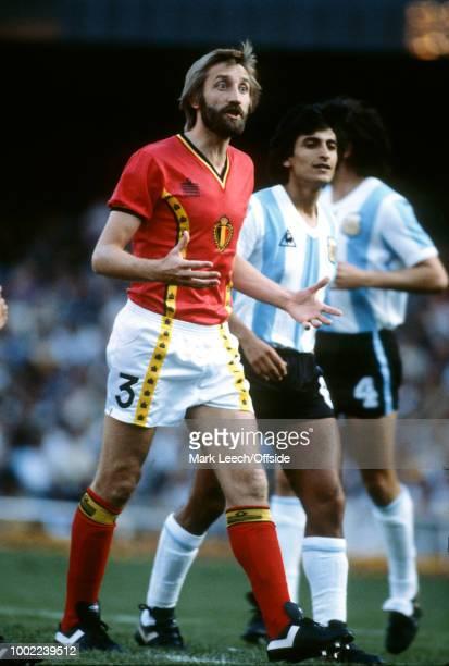 June 1982 - Barcelona - FIFA World Cup - Argentina v Belgium - Luc Millecamps of Belgium -