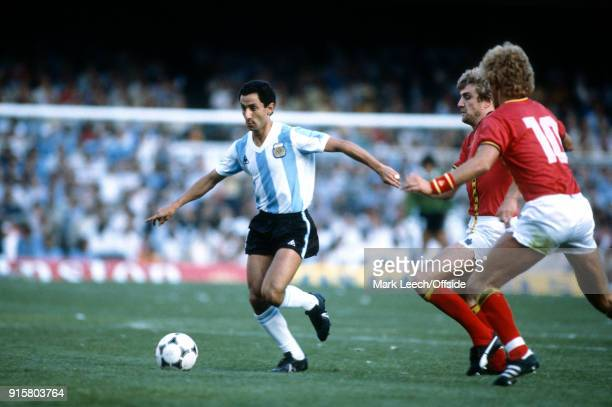 FIFA World Cup Belgium v Argentina Osvaldo Ardiles of Argentina on the ball