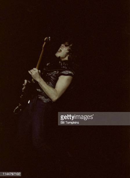 Gary Moore performs with Greg Lake June 1982 in New York City