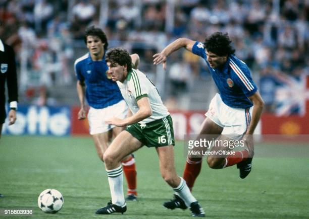 FIFA World Cup Northern Ireland v Yugoslavia Norman Whiteside of Northern Ireland in action during the match in which he became the youngest ever...