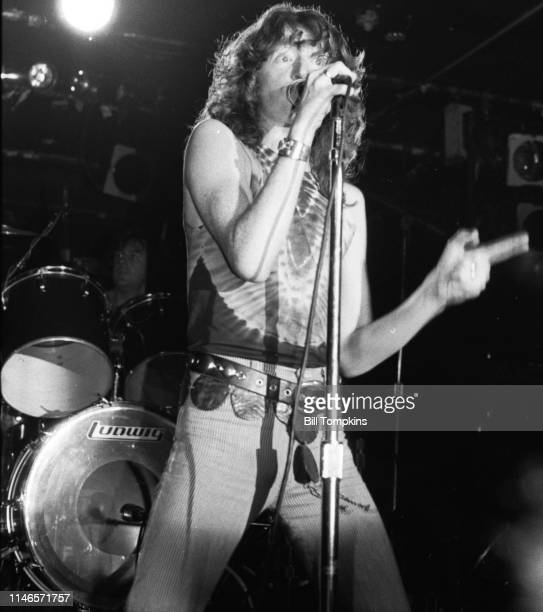David King lead singer for Fastway June 1983 in Queens