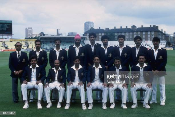 The Indian team line up before a world cup match. India would go on and lift the Cricket World Cup after beating the West Indies in the final at...