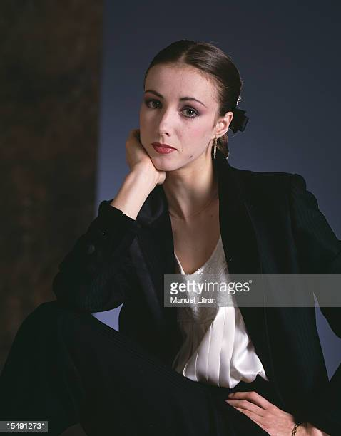 June 1985 portrait of Sylvie Guillem youngest star of the Paris Opera