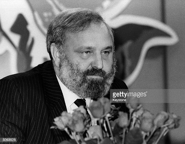 Frank Dobson MP at a Labour Party Press conference