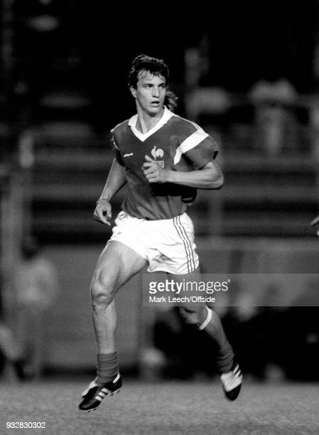 11 June 1987 Toulon Espoirs Under21 International Football Tournament David Ginola of France