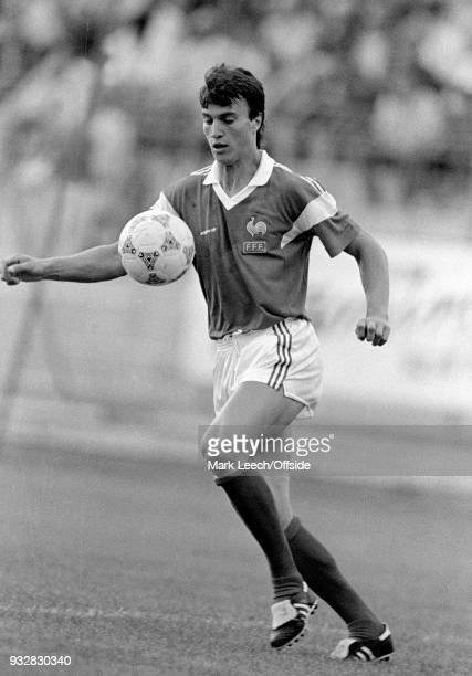 14 June 1987 Toulon Espoirs Under21 International Football Tournament France v Bulgaria David Ginola of France