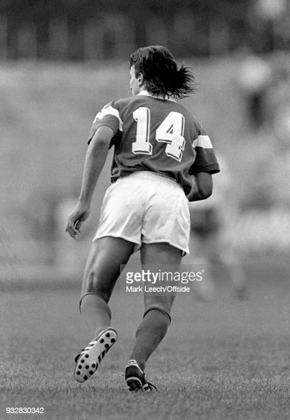 14 June 1987 Toulon Espoirs Under21 International Football Tournament France v Bulgaria David Ginola of France