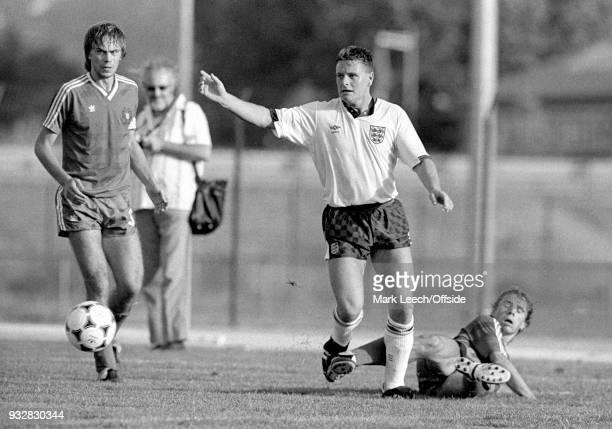 13 June 1987 Toulon Espoirs Under21 International Football Tournament England v Portugal Paul Gascoigne of England