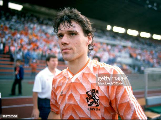 June 1988 Munich - UEFA European Football Championship Final - Netherlands v USSR - Marco van Basten of Netherlands after the match