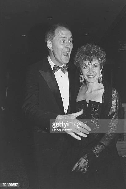 Actor John Lithgow with wife Mary Yeager at Tony Awards party in the New York Hilton