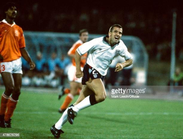 16 June 1990 FIFA World Cup England v Netherlands Steve Bull of England in action against the Netherlands